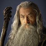 Gandalf as portrayed by Ian McKellen in the Hobbit movies.