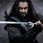 Thorin Oakenshield as portrayed in the Hobbit Movies.