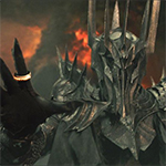Sauron as depicted in the Lord of the Rings films by Peter Jackson.