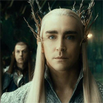 Thranduil as portrayed by Lee Pace in the Hobbit Movies.