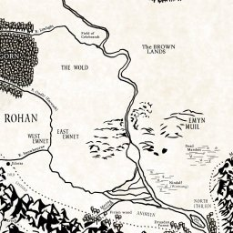 Political Map Def.Interactive Map Of Middle Earth Lotrproject
